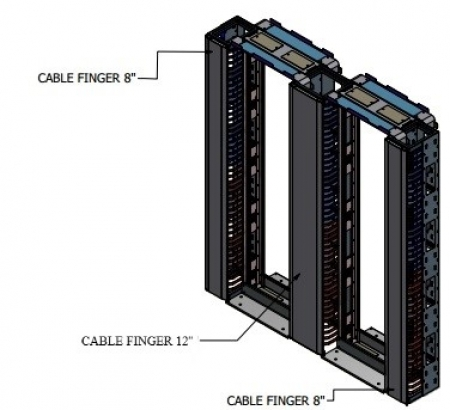 EZ NET II Double frame, middle cable management 12